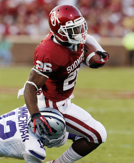 Oklahoma running back Damien Williams rushed for 36 yards on 10 carries in Saturday's loss to Kansas State. PHOTO BY STEVE SISNEY, THE OKLAHOMAN
