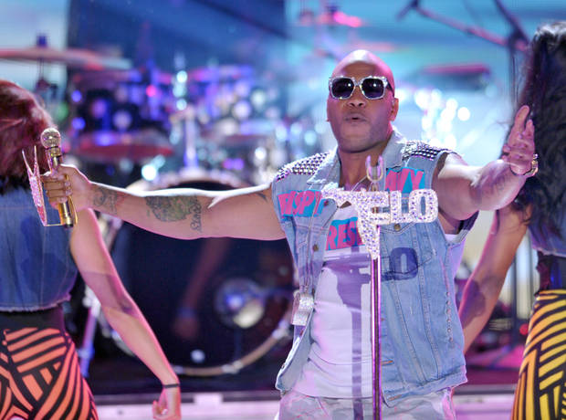 Flo Rida performs onstage at the Teen Choice Awards on Sunday, July 22, 2012, in Universal City, Calif. (Photo by John Shearer/Invision/AP)