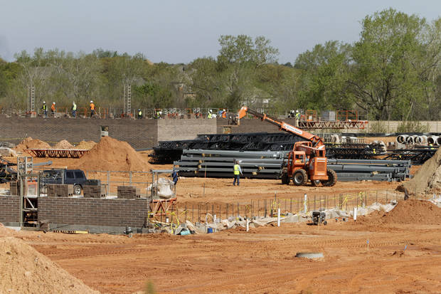 Construction has started at Edmond's new Sam's Club. <strong>Steve Gooch - THE OKLAHOMAN</strong>