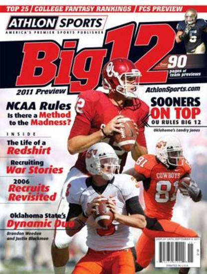 Weeden and Blackmon make Athlon's college football magazine cover.