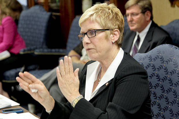 State schools Superintendent Janet Barresi speaks Thursday during a state Education Board meeting in Oklahoma City. Photo by Chris Landsberger, The Oklahoman
