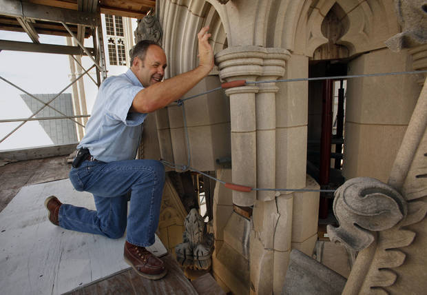 Joe Alonso, pictured outside Washington National Cathedral on Sept. 18, says that when he was first assessing the damage after the 2011 earthquake he was afraid to touch parts of the building for fear it might fall down.