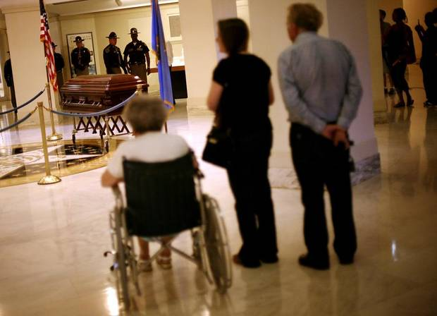 As the body of Clara Luper lies in repose on the first floor of the Oklahoma State Capitol in Oklahoma City on Thursday, June 16, 2011. Photo by John Clanton, The Oklahoman