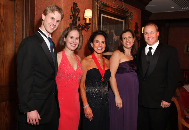 The King's family: Michael and Paige Edwards Frenzel, Susan Edwards and Megan Edwards and Andy Bauml.