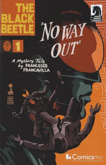 "The ComicsPRO cover to ""The Black Beetle"" No. 1, distributed at the annual membership meeting in Atlanta.  Dark Horse Comics. <strong></strong>"