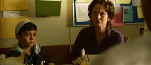 THE SPACE BETWEEN -- Pictured: (l-r) Anthony Kevyan as Omar, Melissa Leo as Montine -- Photo by: USA Network