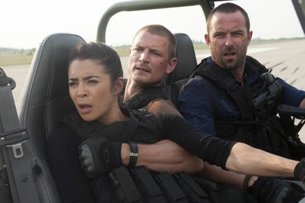 From left, Michelle Lukes, Philip Winchester and Sullivan Stapleton - Photo by Liam Daniel/Cinemax