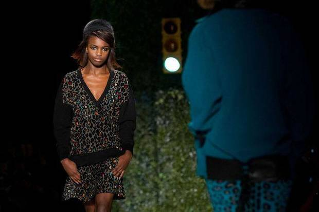 Tracy Reese fall 2013 collection on the runway in New York. AP Photo