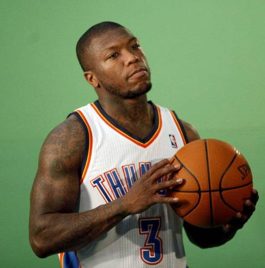 Oklahoma City&#039;s Nate Robinson films video segments at the the Thunder practice facility, Saturday, Feb, 26, 2011, in Oklahoma City. Photo by Sarah Phipps, The Oklahoman &lt;strong&gt;SARAH PHIPPS&lt;/strong&gt;