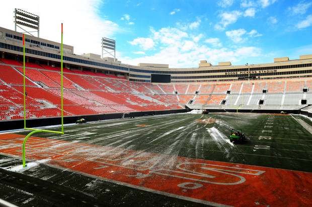 Boone Pickens Stadium is getting a surface revamp. KT King/For the Tulsa World