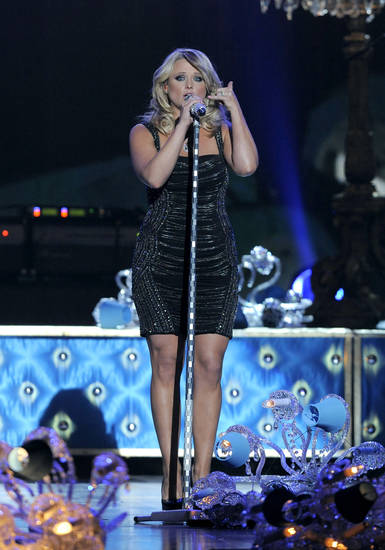 "Miranda Lambert performs ""Mama's Broken Heart"" at the 48th Annual Academy of Country Music Awards at the MGM Grand Garden Arena in Las Vegas on Sunday, April 7, 2013. (Photo by Chris Pizzello/Invision/AP) ORG XMIT: NVPM267"
