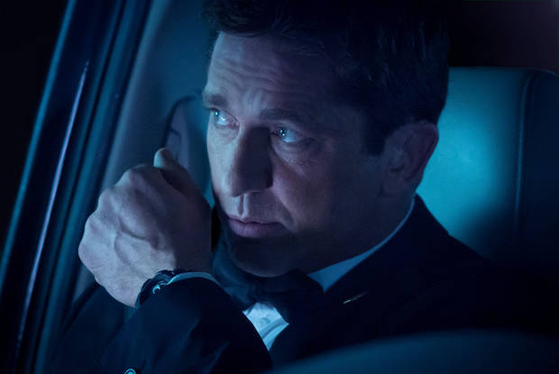 "Gerard Butler in a scene from ""Olympus Has Fallen.""  filmdistrict photo <strong>Phil Caruso</strong>"