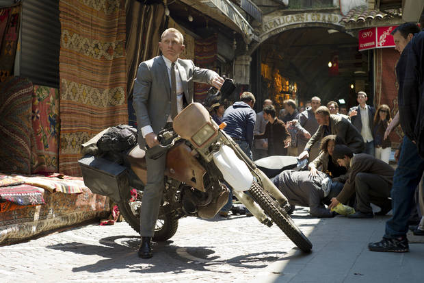 "Daniel Craig stars as James Bond in Metro-Goldwyn-Mayer Pictures/Columbia Pictures/EON Productions, action adventure ""Skyfall."""