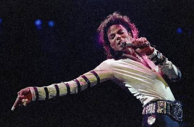Michael Jackson during a concert in 1988. (AP Photo/Cliff Schiappa)