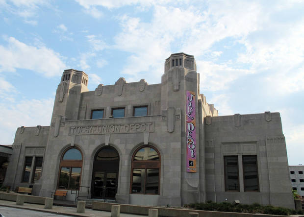 The outside of the Oklahoma Jazz Hall of Fame in Tulsa is shown.  AP Photo