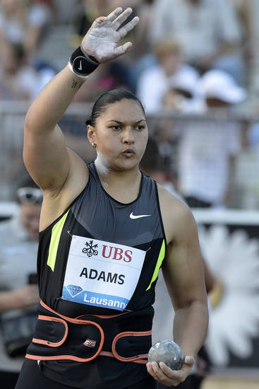 Steven Adams' sister, Valerie, is a two-time Olympic Gold medalist in the shot put. (AP Photo/Keystone, Peter Schneider)