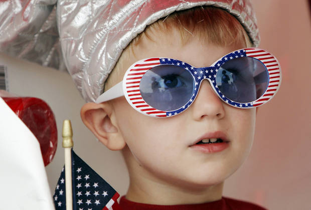 Trent Nondorf, 4, waits for the start of the Quail Creek Fourth of July parade in Oklahoma City, Saturday, July 4, 2009. Photo by Nate Billings, The Oklahoman