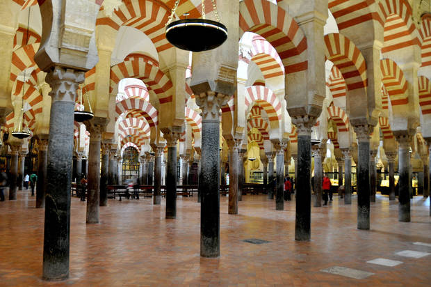 Although Cordoba&acirc;s Mezquita is a vast space, its low ceilings and dense columns create an intimate place of worship.  Photos provided by Cameron Hewitt