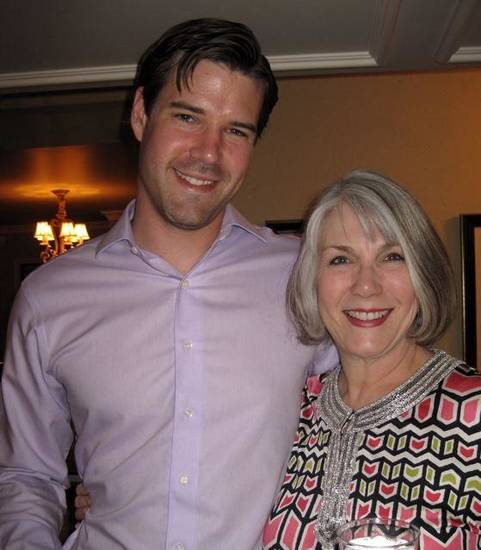WEDDING SHOWER....Matt Seikel and his mother, Jeary Seikel were at  the kitchen and bar shower. (Photo by Helen Ford Wallace).