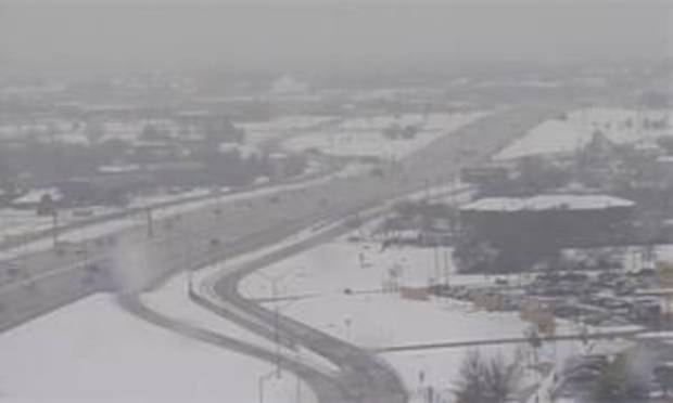 Traffic moves along Broadway Extension near Britton in this frame grab from NewsOK.com video.