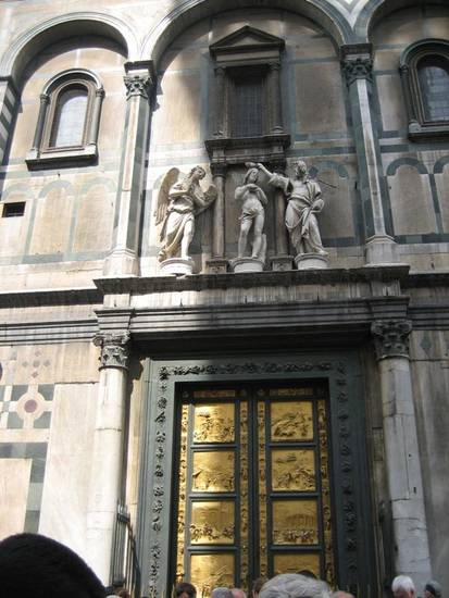 The Baptistry in Florence is famous for its bronze gates.