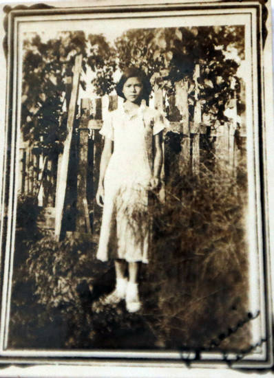 Lorraine Thomas is pictured as a child. Photo by Sarah Phipps, The Oklahoman