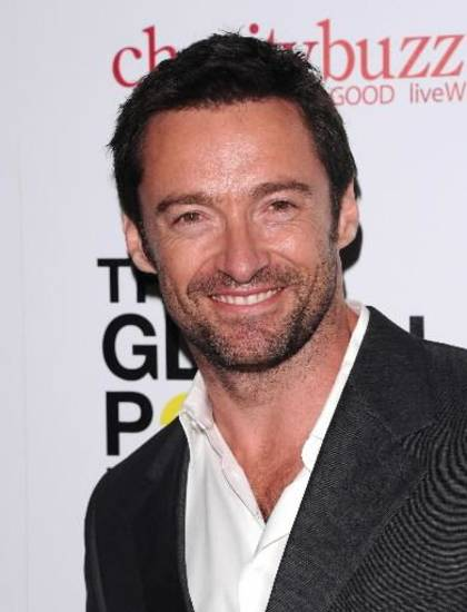 "Actor Hugh Jackman attends The Global Poverty Projects launch of their DVD ""1.4 Billion Reasons"", in New York, on Wednesday, Oct. 20, 2010. (AP Photo/Peter Kramer)"
