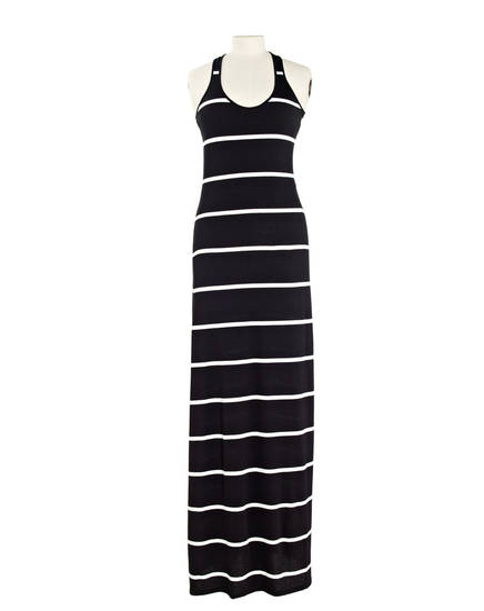 The quest for the perfect stripped boatneck T-shirt inspired Julia Leach, former creative director for Kate Spade, to launch her Chance line at Barneys New York which includes the LS scoop neck dress for $138. (Los Angeles Times/MCT)