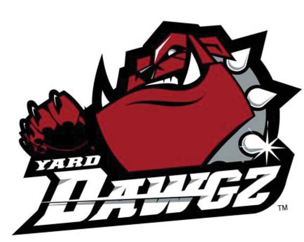 ARENA FOOTBALL TEAM: OKLAHOMA CITY YARD DAWGZ logo / graphic