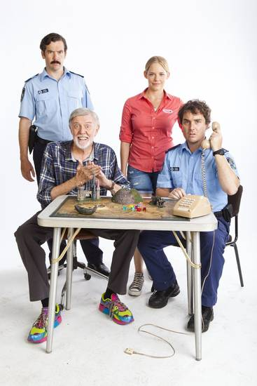"""The Strange Calls"": From left, Patrick Brammall (Sgt. Neil Lloyd), Barry Crocker (Gregor), Katherine Hicks (Kath) and Toby Truslove (Toby) - Provided Photo"