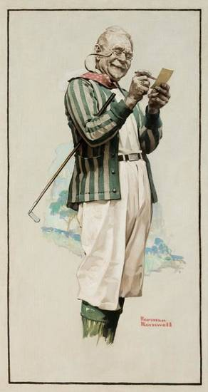 "Norman Rockwell's ""Old Man Tracy"" is featured in ""The Art of Golf"" at the Oklahoma City Museum of Art."