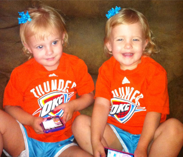 Thundered Up in Woodward, OK!! Future Thunder girls, Jaidynce & Jocelyn ready to cheer on the Thunder!