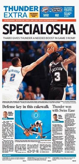 Game 3: Thunder-Spurs, May 31, 2012