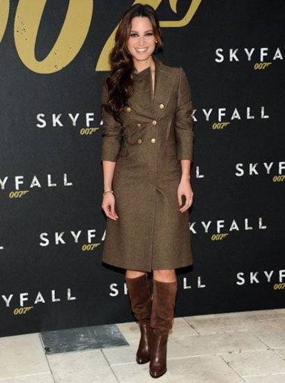 "Bérénice Marlohe at a photo call for the new film ""Skyfall"" in New York. AP PHOTO"
