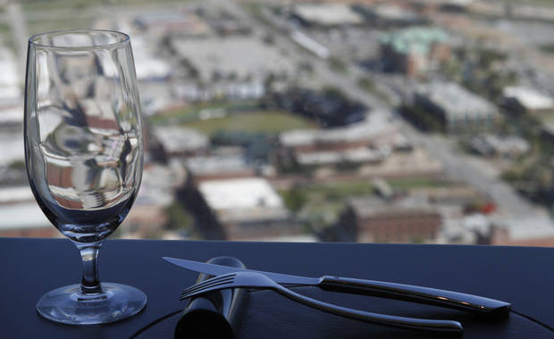 The view from Vast restaurant in the Devon Tower in Oklahoma City is seen. Photo By Steve Gooch, The Oklahoman <strong>Steve Gooch - The Oklahoman</strong>