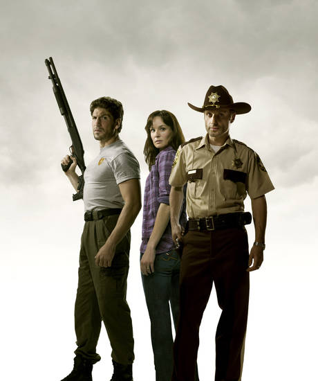 "From left, Jon Bernthal, Sarah Wayne Callies and Andrew Lincoln of ""The Walking Dead"" - AMC Photo"