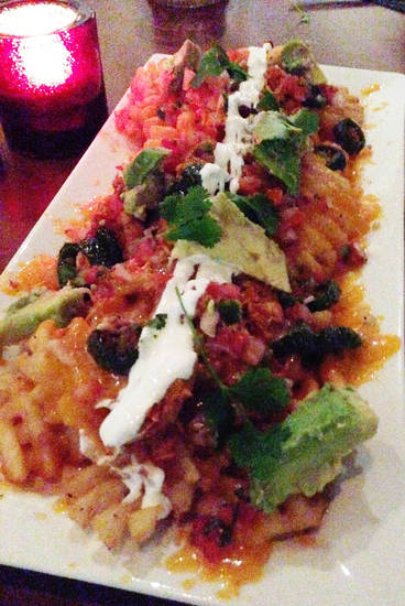 Chicken & Waffle Fry nachos at Park House.