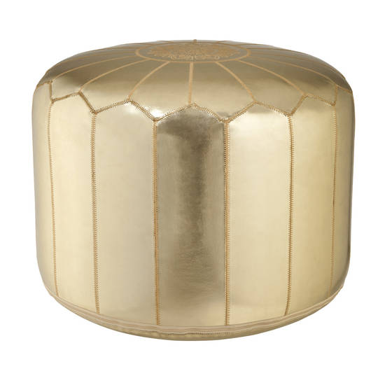 Calypso St. Barth gold pouf, $59.99. Online only.