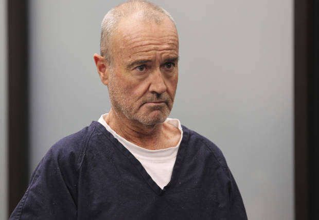 "Peter Robbins appears for his arraignment Wednesday, Jan. 23, 2013 in San Diego, on charges of stalking and threatening his former girlfriend and a plastic surgeon who gave her a breast enhancement he apparently didn't like. Robbins who was the voice of Charlie Brown in several ""Peanuts"" television shows, pleaded not guilty Wednesday in San Diego Superior Court to two counts of stalking and 10 counts of making criminal threats. (AP Photo/U-T San Diego, John Gibbins)  SAN DIEGO COUNTY OUT; NO SALES; COMMERCIAL INTERNET OUT; FOREIGN OUT"