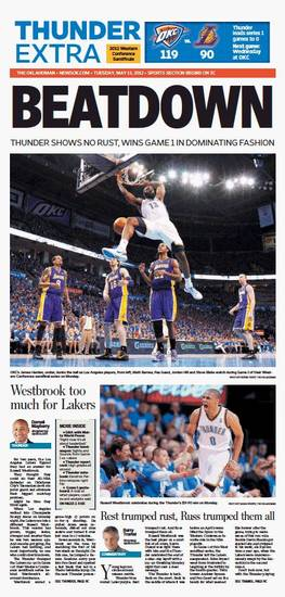 Game 1: Thunder-Lakers, May 15, 2012