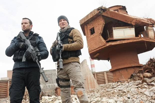 From left, Sullivan Stapleton and Philip Winchester. Photo credit: Liam Daniel/Cinemax
