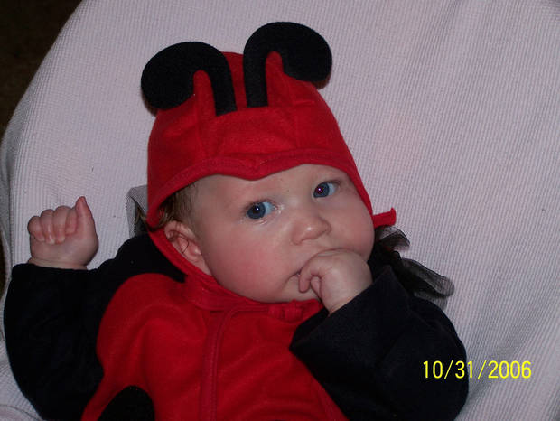 Aspen Pettit as a lady bug<br/><b>Community Photo By:</b> Lori<br/><b>Submitted By:</b> Lori, Bethany