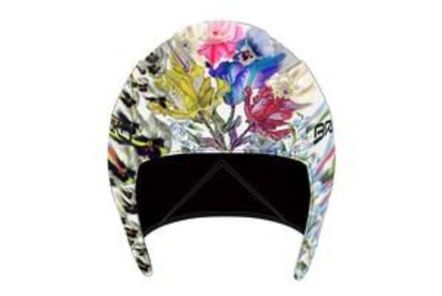 A Cynthia Rowley design option for ski helmets for Lindsey Vonn.