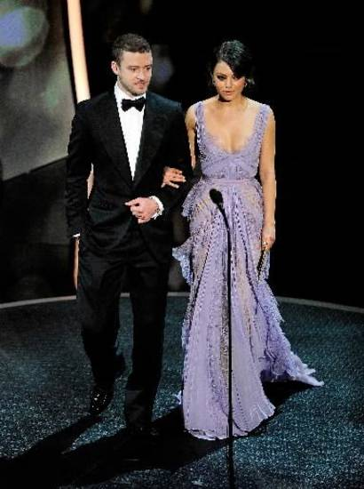 Justin Timberlake and Mila Kunis present the animated film Oscars.