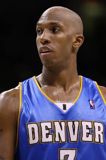 Denver''s Chauncey Billups in the Thunder - Nuggets game January 2, 2009.    BY HUGH SCOTT, THE OKLAHOMAN