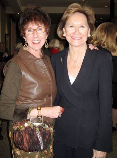 Heart Rhythm Institute..Ann Bohanon and Kaye Cook were at the luncheon. (Photo by Helen Ford Wallace).