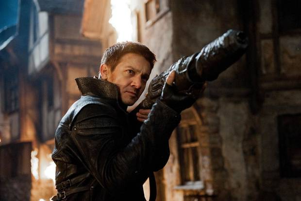Jeremy Renner, pictured, and Gemma Arterton star in �Hansel & Gretel: Witch Hunters.� Paramount Pictures photo