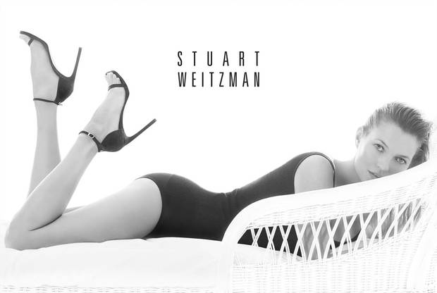 Kate Moss Channels Sun-Kissed Sensuality in Stuart Weitzman's Spring 2014 Advertising Campaign.  (PRNewsFoto/Stuart Weitzman)