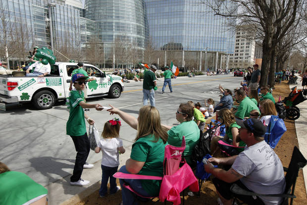 Thousands turned out for the annual Saint Patrick's Day Parade in downtown Oklahoma City, OK, Saturday, March 16, 2013,  By Paul Hellstern, The Oklahoman