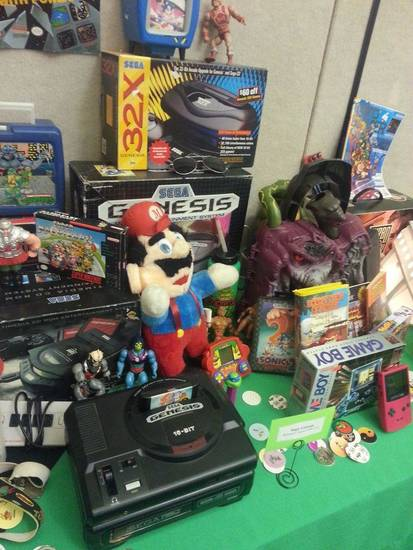 Vintage toys and games displayed at SoonerCon